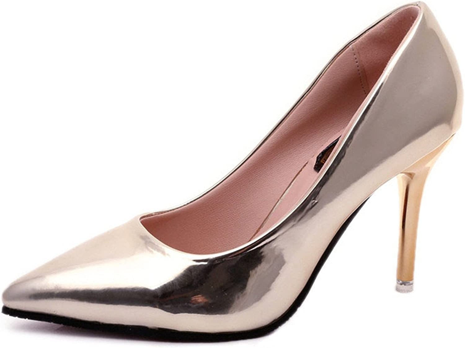 Gome-z Spring Autumn Women Pumps Sexy gold Silver High Heels shoes Fashion Pointed Toe Wedding shoes Party Women shoes