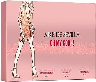 Aire de Sevilla Oh My God - Set Perfume Mujer - Eau de Toilette 150 ML Crema Perfumada 150 ML y Gel Exfoliante 150 ML