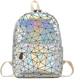 Phayee Mochila de Holograma para Mujer Casual PU Leather Schoolbag School Bag Hombro para Viajes