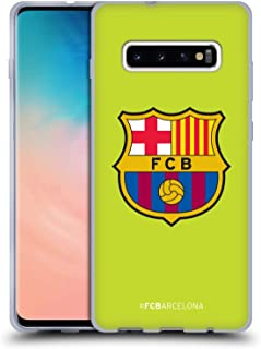 Official FC Barcelona Away 2018/19 Crest Kit Soft Gel Case Compatible for Samsung Galaxy S10+ / S10 Plus