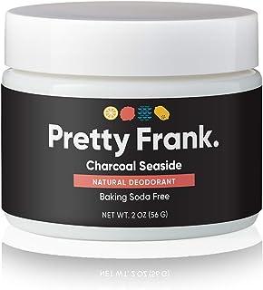 Pretty Frank Natural Deodorant Jar- Baking Soda Free Natural Deodorant for Women, Men, Kids – Paraben Sulfate Free Deodora...