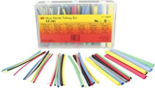 3M Heat Shrink Tubing FP-301-Color-Assortment, (Pack of 133)