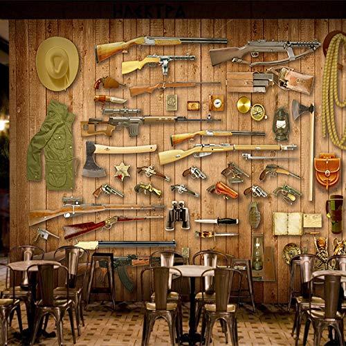 HRXBH Mural 3D Sala De Juegos De Armas De Arma Fondo De Pantalla Dormitorio Infantil Sala De Niños Y Niñas Sala Comedor Tv Fondo Art Deco Papel Tapiz Mural Arte De La Pared(W)250x(H)175cm