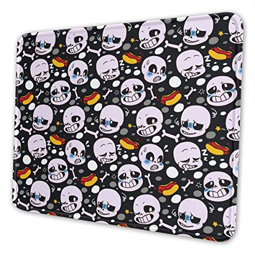 Undertale Sans Gaming Mouse Pad 12 x 10 x 0.12 inches Non-Slip Rubber Stitched Edges Mousepad Rectangle Mouse Mat Smooth Surface Mouse Pads