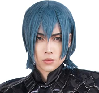 Coslive Fire Emblem Three Houses Protagonist Wig Cosplay Costume Byleth Grey Green Hair