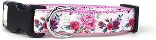 Midlee Rose Floral Nylon Ribbon Dog Collar
