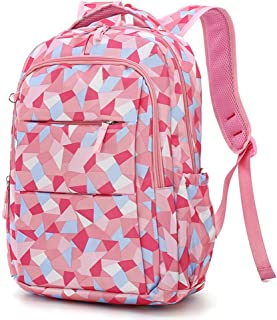 Backpack for Girls Primary School Student Satchel Backpack Book Travel bag Geometric Prints