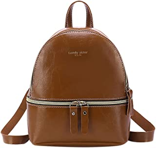Fartido Women's Vintage Backpack Shoulder Bag Purse School Bags for Teen Girls/Ladies
