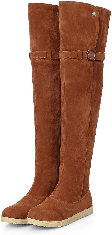Kaloosh High Heels Over Knee Boots for Women Trendy Low Block Heel Boots