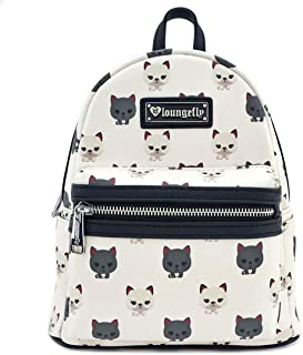 Loungefly Cat AOP Mini Backpack (One Size, White)