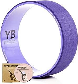 YOGABODY Jumbo Yoga Wheel with DVD, Dusk Purple, 15 inches
