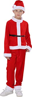 Kids Boy Christmas Santa Claus Costumes Fancy Dress Outfits
