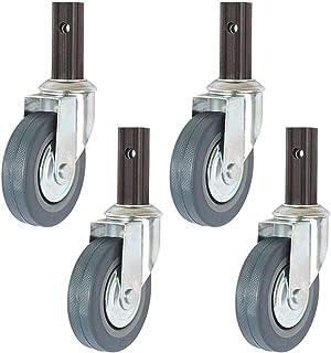 LYQQQQ 4 stuks zwenkwielen/zwenkwielen, ø100mm zwenkwiel/remzwenkwiel combinatie, voor eetwagens, winkelwagens, zachte wie...
