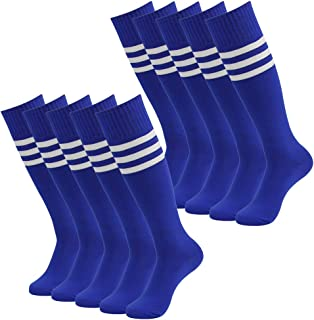 Soccer Socks, SUTTOS Unisex Cotton Knee High Triple...
