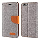 Doogee Y300 Case, Oxford Leather Wallet Case with Soft TPU