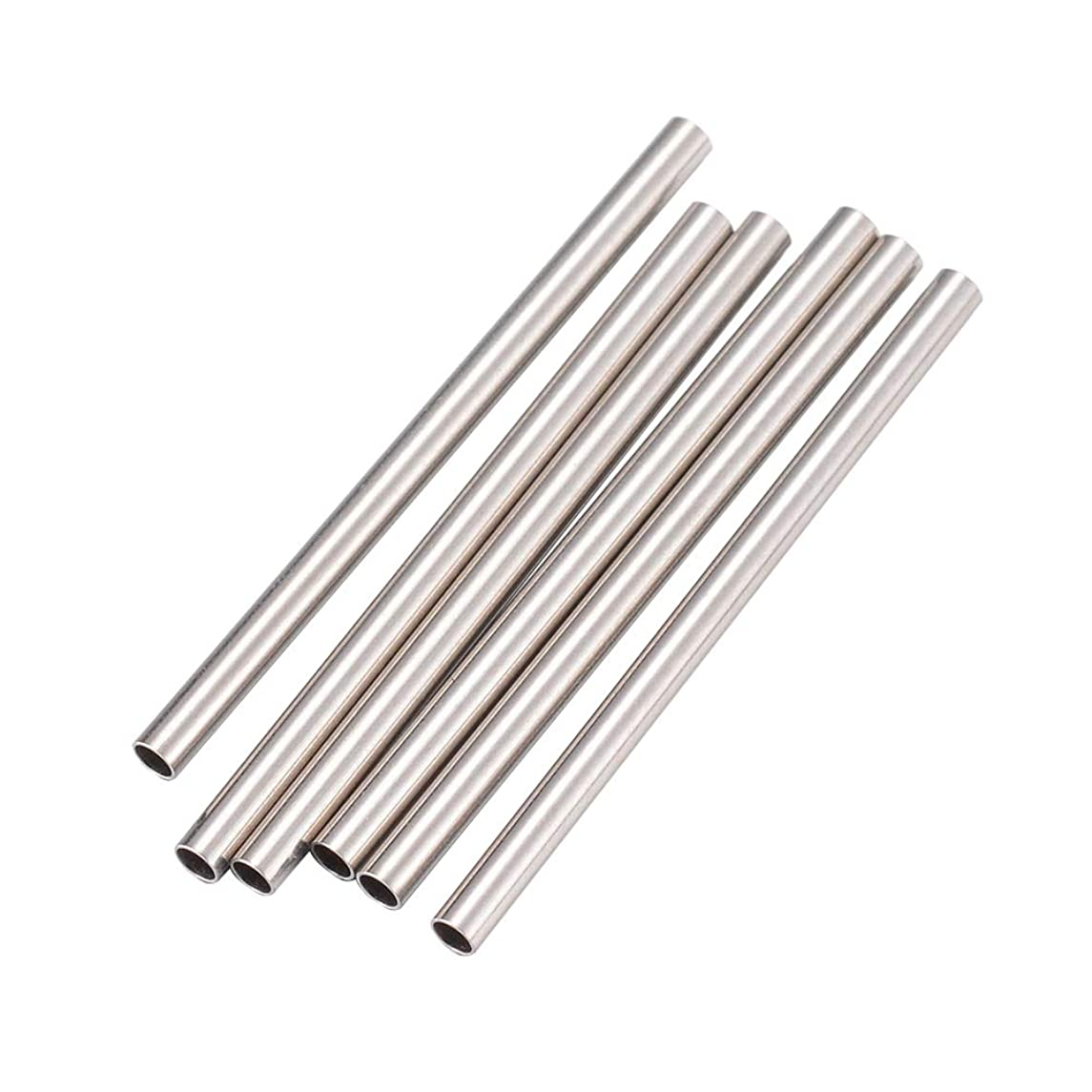 PH PandaHall 500pcs 1mm Long Tube Beads Stainless Steel Straight Spacer Beads Smooth Tube Loose Beads Connector for Jewelry Crafts Making Findings 25x1.5mm