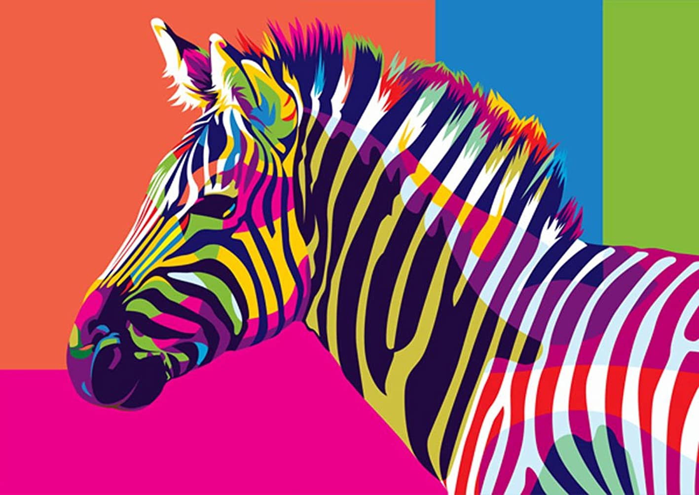 DIY Oil Painting Paint by Number Kit for Kids Adults Beginner 16x20 inch -Zebra,Drawing with Brushes Christmas Decor Decorations Gifts (Frame) pndprkjftil880