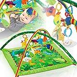 DSCHUNGEL XXL Baby Krabbeldecke / Spieldecke mit Spielbogen Gym