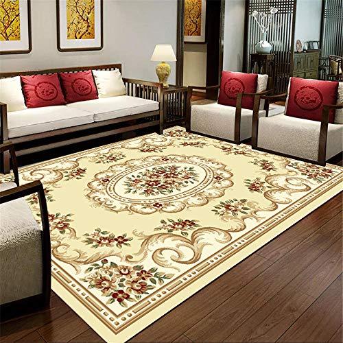ZHAOPAI Tapijt/duurzaam tapijt, verschillende kleuren eenvoudige kruipdeken, haarkleurig tapijt, onderhoudsvriendelijk voor bloementapijten, crèmewit