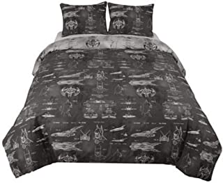 DC Comics Batman Comforter Full Queen Size with Shams 3 Pieces Set