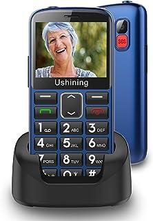 """Ukuu Senioren-Mobiele telefoon 1,8"""" GSM mobiele telefoon Dual SIM klaptelefoon met grote toetsen en zonder contract - zwar..."""