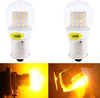 AMAZENAR 2-Pack 1056 BAU15S 7507 12496 5009 PY21W Extremely Bright Amber/Yellow LED