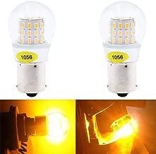Paquete de 2-1056 BAU15S 7507 12496 5009 Luz LED ámbar / amarilla extremadamente brillante, no polarizada 10-30 V CC AMAZENAR 3014 39 SMD Bombilla de repuesto para luces traseras Intermitentes