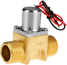 Water Flow Pulse Electromagnetic Valve Brass Shut Off Valve for Liquid Water, Air and Diesel DC4.5V 1/2