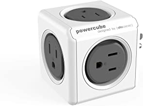 Wall Plug, Allocacoc PowerCube |Original|, 5 Outlets, Cell Phone Charger, Surge Protection, Compact for Travel, Home and Office, Space Saving, ETL Certified