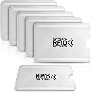 Custodie Blocco RFID,PAMIYO 6 Pezzi Custodie per Carte di Credito e Carte di Debito Protezione Carta di Credito Contactles...