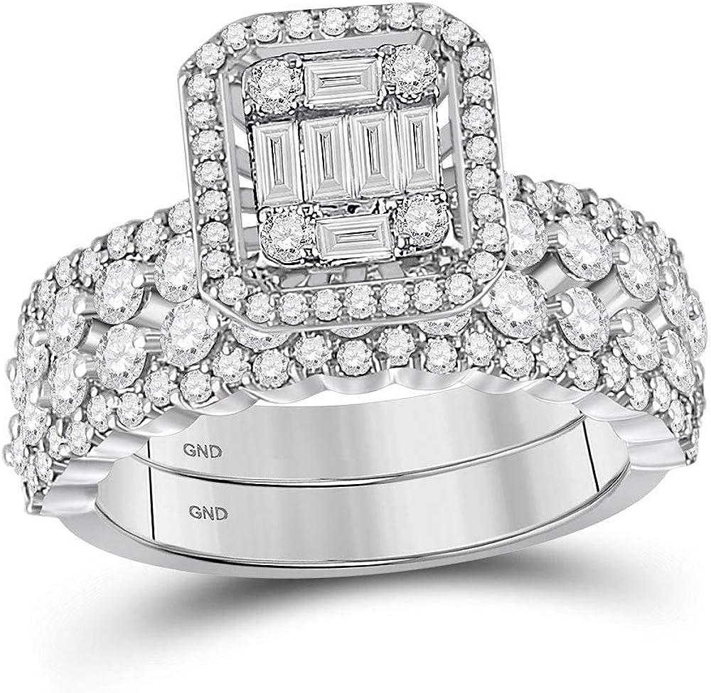 Dazzlingrock Popular brand Collection 14kt White Diamond Bridal Baguette Max 48% OFF Gold