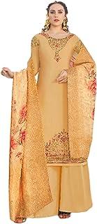 بدلة حريمي مزينة بصورة مسلم ومطرز من Golden Designer Indian باكستان طراز كلاسيكي 5999