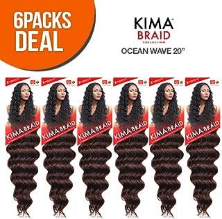 Harlem125 Synthetic Hair Braids Kima Braid Ocean Wave 20 (6-Pack, 1) by Harlem 125
