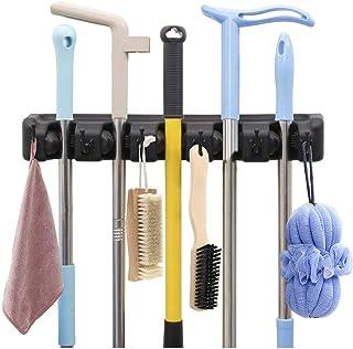 AMERTEER Mop and Broom Holder Wall Mount Heavy Duty Broom Holder Wall Mounted Broom Organizer Home Garden Garage Storage R...