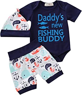 Newborn Toddler Baby Girl Boy Letter Printed Short Sleeve Romper Bodysuit Pants Hat 3Pcs Summer Outfit