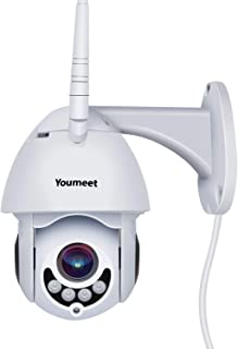 WiFi IP Security Camera,Youmeet 1080P Home Surveillance Cameras,WiFi and Wired Connection,Outdoor camera with Night Vision, 2 Way Audio, Motion/Sound Detection, SD Card Included, Works on Smart Phones
