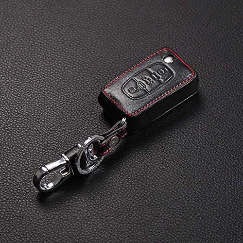 YUFFD Good Key Bag Funda de Cuero para Llave de Coche, para Peugeot 107206207208306307308407408508 RCZ, para Citroen C2 C3 C4 C5Negro