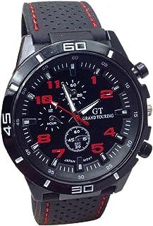 Ularma Reloj de pulsera Sport silicona de cuarzo reloj hombres (rojo)