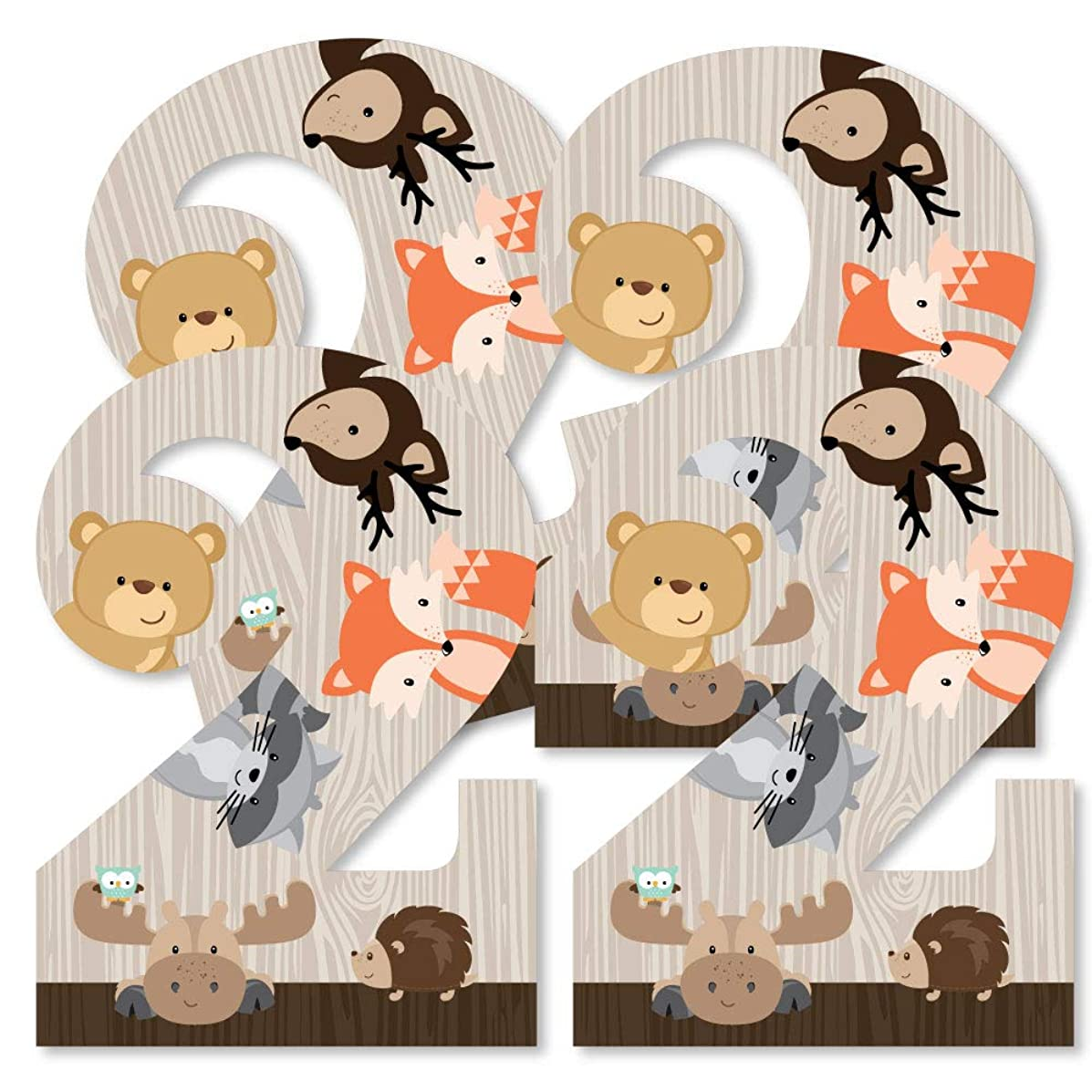 2nd Birthday Woodland Creatures - Two Shaped Decorations DIY Second Birthday Party Essentials - Set of 20