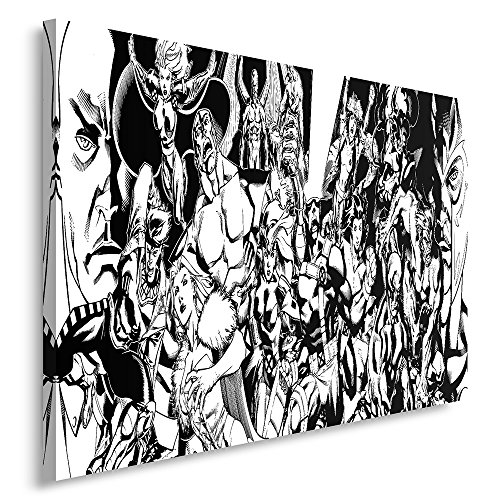 Feeby Frames, Cuadro en lienzo, Cuadro impresión, Cuadro decoración, Canvas 40x50 cm, MODERNO, CÓMIC, SUPERHÉROES, COLLAGE, NEGRO Y BLANCO