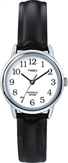 Women's T20441 Easy Reader 25mm Black/Silver-Tone/White Leather Strap Watch