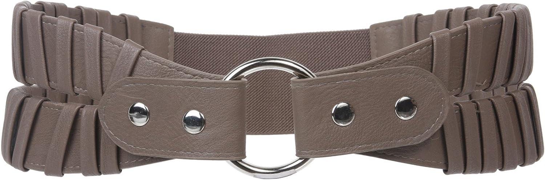 3 1 2  Wide High Waist Fashion Ring Fold Stretch Belt