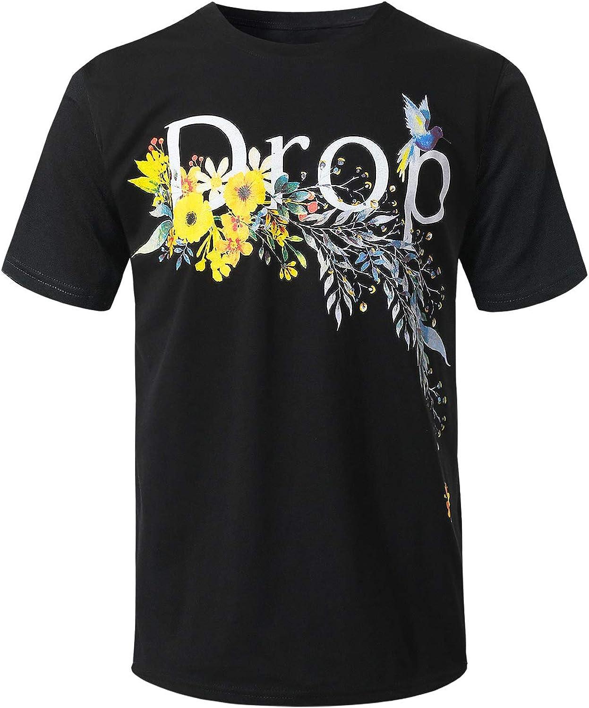 URBANCREWS Mens Hipster Hip Hop Sublimated Graphic Print T-Shirt- Various Prints