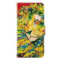 iPhoneSE (第2世代) iPhone8 iPhoneケース (手帳型) [カード収納/ミラー付き/ストラップホール] ライオン アイフォンケース スマホケース 携帯電話用ケース CollaBorn Nijisuke (ニジスケ) (レッド) (iPhone7/iPhone6s/iPhone6対応)