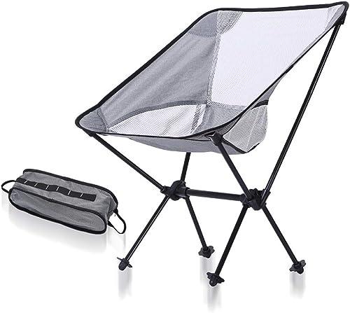 HECHEN Chaise Pliante d'extérieur - Chaise Lune Ultra-légère en Aluminium d'aviation portative - Chaise de Croquis de Tabouret de pêche Polyvalente