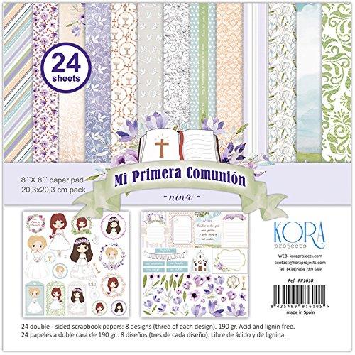 Pack de 24 papeles - Mi Primera Comunión - niña (8'x8')