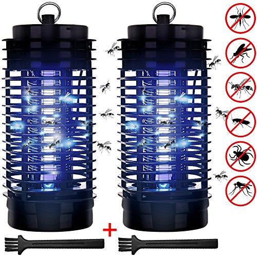 Monzana 2X Insektenfalle elektrisch Elektrischer Insektenvernichter Fliegenfalle 50m² UV Licht 2 Reinigungsbürste Insektenabwehr