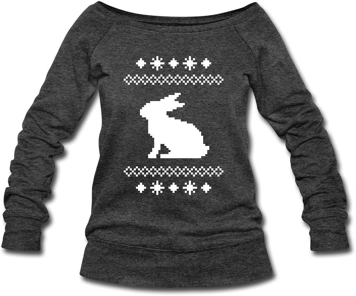 Spreadshirt Norwegian Bunny Pattern Christmas Women's Wideneck S