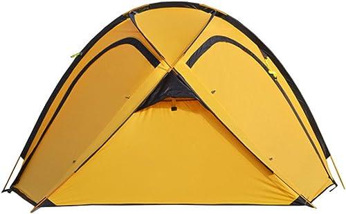 LYN Tente de Camping 4 Saisons Tente Multi-Personnes à Une Chambre à Coucher et Un étage Devant être assemblée pour Les Sports de Plein air de Couleur Orange