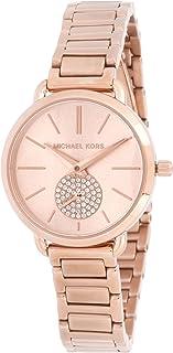 Michael Kors Womens Quartz Watch, Analog Display and Stainless Steel Strap MK3839
